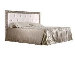 Кровать 2-х спальная Тиффани 1,4 м с мягким элементом со стразами ( надо орт. основание) ТФКР140-2[7]