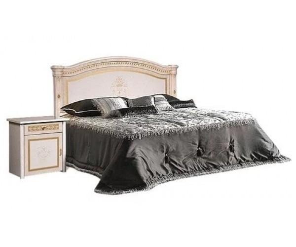 Кровать 2-х спальная с подъемным механизмом, без матраца(1 спинка - шелкография) Карина 3 бежевый К3КР-2(Л)[3]