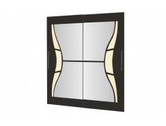 Двери-купе Арго №27.1 (1004) венге/зеркало/стекло планилак бежевый