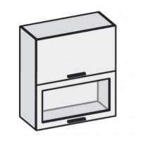 Кухня Эко горизонт 600 Стекло матовое FMP 1201-R белый шелк / FMP 1998-10 венге