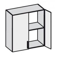 Кухня Эко навес 600 FMP 1201-R белый шелк / FMP 1998-10 венге