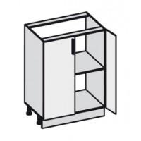 Кухня Эко напольная 600 FMP 1201-R белый шелк / FMP 1998-10 венге