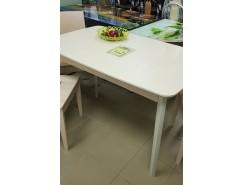 Стол обеденный со скругленной крышкой выбеленная береза