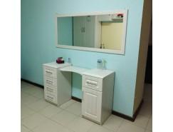 Стол туалетный КЭТ-6 Кантри+ Зеркало большое Иннэс-6 Рамка