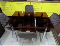 Стол обеденный стекло тонированное