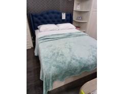 Кровать арт.034 Классика Night Blue/ бодега белая