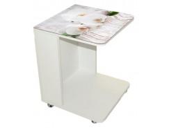 Стол прикроватный белый Luminar 117
