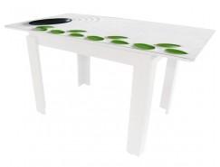Стол обеденный Баку раздвижной белый Luminar 101/102