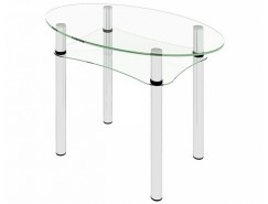Стол обеденный Рио-8 Бесцветное (2-1)