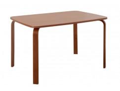 Стол гнутая нога 800*1150 вишня/вишня
