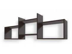 Полка Кубик-6 венге