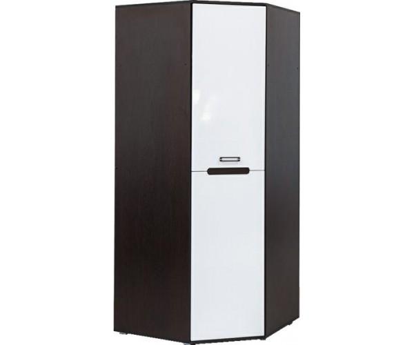 Угловой шкаф Вегас венге/белый глянец
