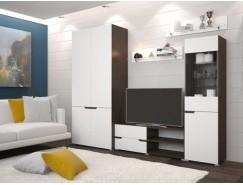 Гостиная Анталия венге/белый софт