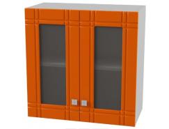 Кухня Сити глянец витрина 600 серый/апельсин