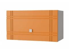 Кухня Сити глянец газовка 600 серый/апельсин