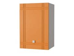 Кухня Сити глянец шкаф 400 серый/апельсин