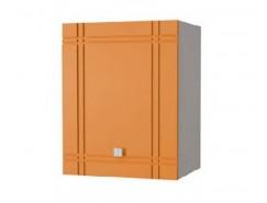 Кухня Сити глянец шкаф 500 серый/апельсин
