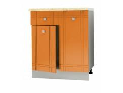 Кухня Сити Глянец Стол Комби 600 серый/апельсин/ит.мозаика