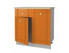 Кухня Сити Глянец Стол Комби 800 серый/апельсин/ит.мозаика