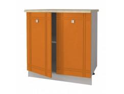 Кухня Сити Глянец Стол 800 серый/апельсин/ит.мозаика