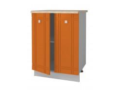 Кухня Сити Глянец Стол 600 серый/апельсин/ит.мозаика