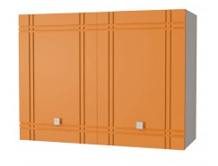 Кухня Сити глянец шкаф 800 серый/апельсин