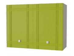 Кухня Сити глянец шкаф 800 серый/олива