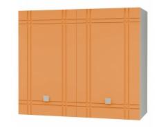 Кухня Сити глянец шкаф 600 серый/апельсин