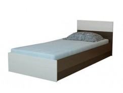 Кровать Юнона 0,8 м б/м, с настилом ЛДСП венге/дуб белфорт