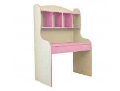 Радуга (стол рабочий) бежевый/фламинго