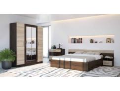 Спальня Уют (комод+тумба 2 шт.+кровать осн. ДСП) кантерберри/сонома