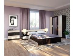 Спальня Уют (комод+тумба 2 шт.+кровать осн. ДСП) венге/дуб