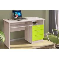 Письменный стол ясень шимо светлый/волна лайм
