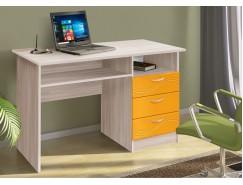 Письменный стол ясень шимо светлый/волна манго