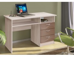 Письменный стол ясень шимо светлый/волна шоколад