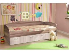 """Кровать - 2-1 """"Бриз"""" Спальное место: 800х1900 ясень шимо темный/ясень шимо светлый"""