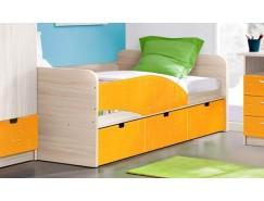 """Кровать - 3 """"Бриз"""" левая ясень шимо св./квадрат манго"""