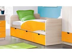 """Кровать - 3 """"Бриз"""" правая ясень шимо св./квадрат манго"""