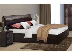 Кровать 1,4 арт.001  (Кэт-1) с настилом венге Linum/Caiman коричневый