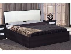 Кровать 1,4 арт.001  (Кэт-1) с настилом венге Linum/Caiman белый