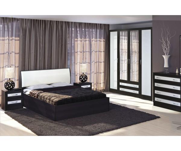 МН для спальни Кэт-1 Вариант 1 венге Linum/Caiman белый