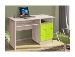 Письменный стол ясень шимо св./квадрат лайм