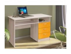 Письменный стол ясень шимо св./квадрат манго