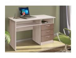 Письменный стол ясень шимо св./квадрат шоколад