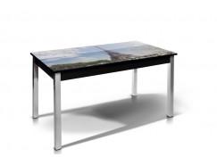 Стол обеденный Лугано-Мини со стеклом фотопечать Париж