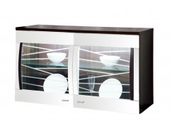 Шкаф навесной 06.109 венге/белый глянец
