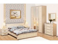 Набор мебели для спальни Волжанка компл. 2 дуб линдберг/крок кремовый
