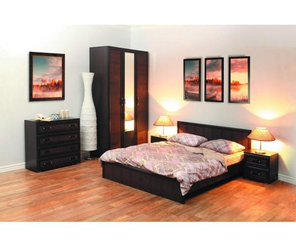 Набор мебели для спальни Волжанка компл. 3 венге/крок коричневый