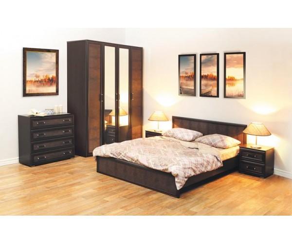 Набор мебели для спальни Волжанка компл. 1 венге/крок коричневый