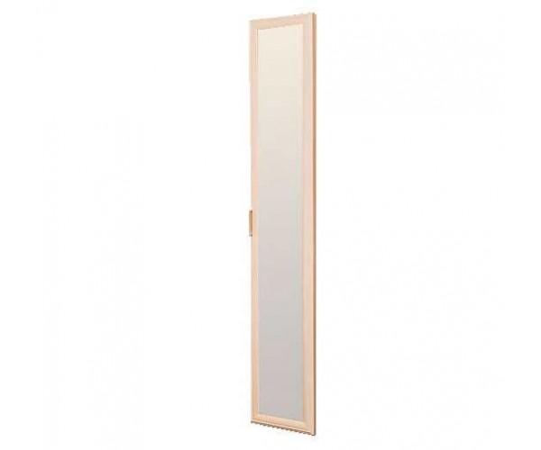 Дверь 2188х396 Волжанка с зеркалом дуб линдберг/крок кремовый